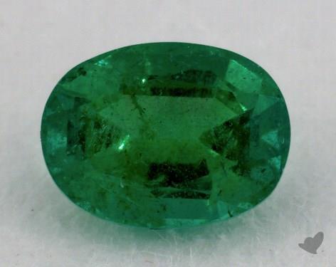 <b>0.75</b> carat Oval Natural Green Emerald