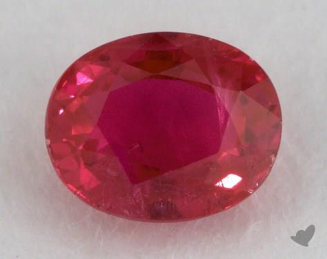 <b>0.90</b> carat Oval Natural Ruby
