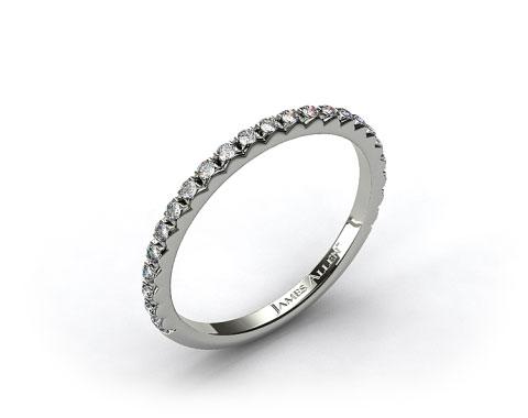 Platinum French Cut Pave Set Diamond Wedding Ring