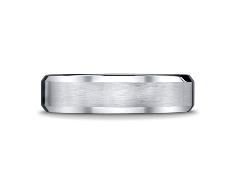 Cobaltchrome 6mm Beveled Wedding Ring