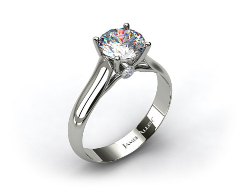 Platinum Surprise Diamond Solitaire Engagement Ring