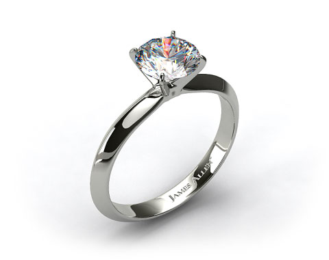 14k White Gold 2.5mm Knife Edge Solitaire Engagement Ring