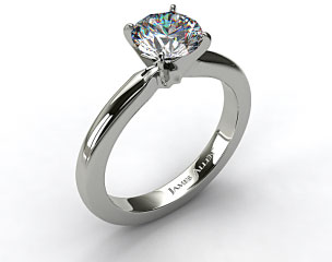 Platinum 2.5mm Comfort Fit Diamond Solitaire Ring