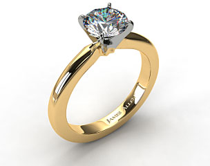 18k Yellow Gold 2.5mm Comfort Fit Solitaire Engagement Ring