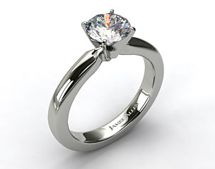 18K White Gold 3mm Comfort Fit Diamond Solitaire
