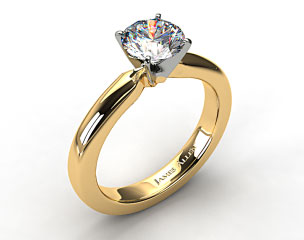 18k Yellow Gold 3mm Comfort Fit Diamond Solitaire