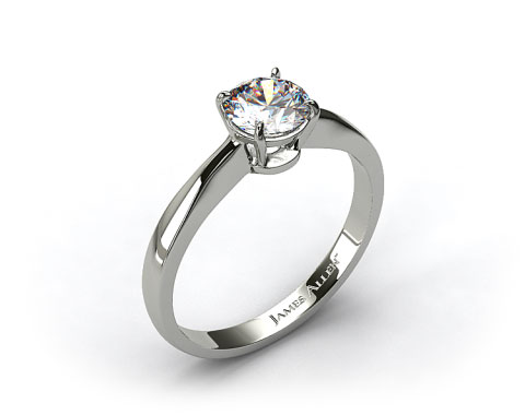18k White Gold 2.2mm Wire Basket Solitaire Ring