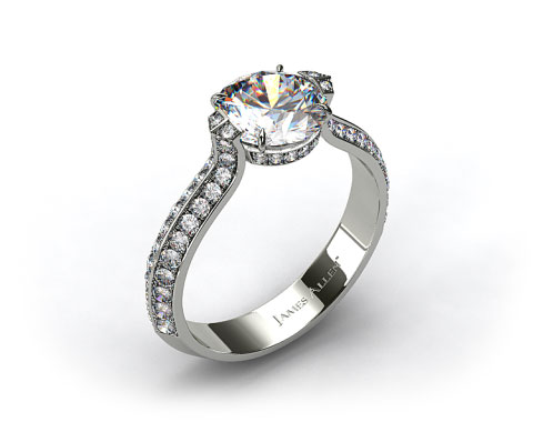 18k White Gold ME180 by Danhov Designer Engagement Ring