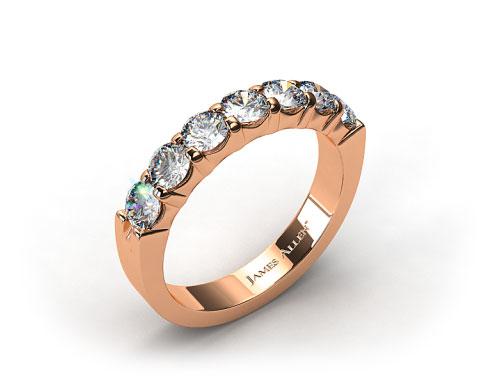 18K Rose Gold 0.75ctw Common Prong Diamond Anniversary Ring