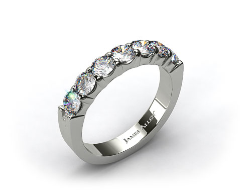 Platinum  0.75ctw Common Prong Diamond Anniversary Ring