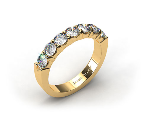 18K Yellow Gold 0.50ctw Common Prong Diamond Anniversary Ring