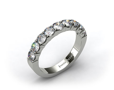 Platinum  0.50ctw Common Prong Diamond Anniversary Ring