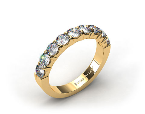 18k Yellow Gold 0.75ctw Common Prong Diamond Anniversary Ring