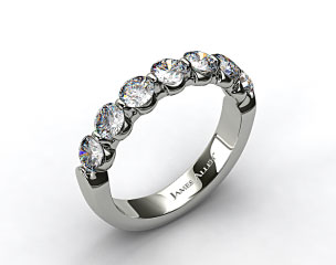 18k White Gold 1.50ctw Share Prong Diamond Anniversary Ring