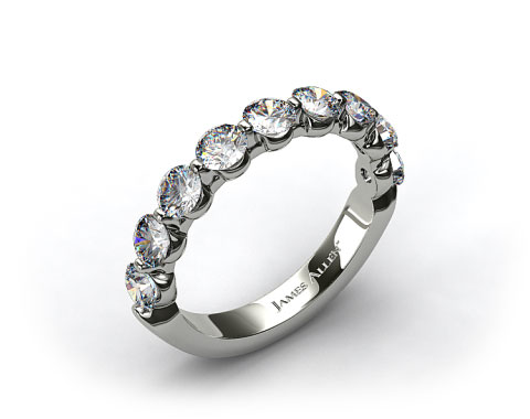 Platinum  1.50ctw Share Prong Diamond Anniversary Ring