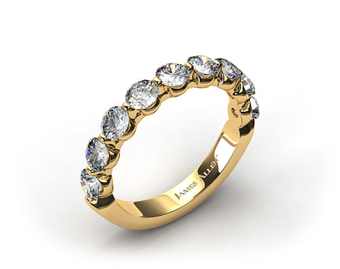 18k Yellow Gold 0.50ctw Share Prong Diamond Anniversary Ring