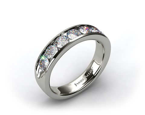 18K White Gold 1.50ctw Channel Set Diamond Anniversary Ring