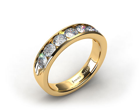 18k Yellow Gold 0.75ctw Channel Set Diamond Anniversary Ring