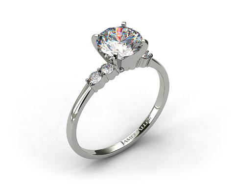 14k White Gold Common Prong Diamond Engagement Ring