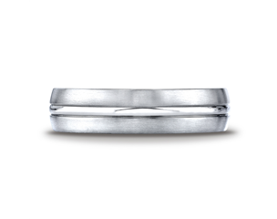 Cobaltchrome™ 6mm Grooved Wedding Ring