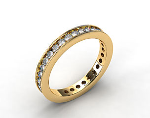 Ladies 1.00ctw* Milgrain Channel Set Diamond Eternity Ring