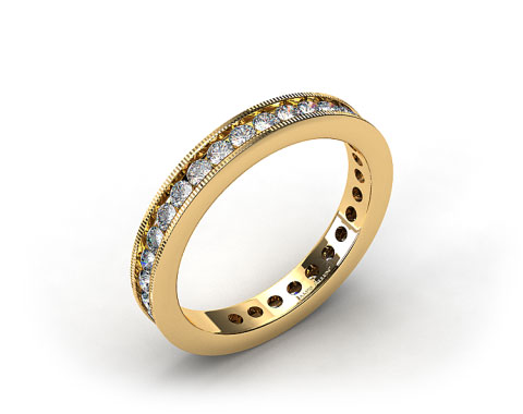 Ladies 0.75ctw* Milgrain Channel Set Diamond Eternity Ring