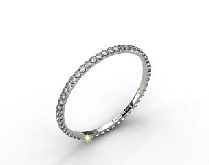 Ladies 0.25ctw* Angled Common Prong Diamond Eternity Ring