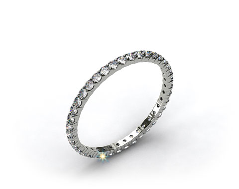 Ladies 0.50ctw* Contoured Common Prong Diamond Eternity Ring