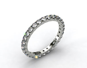 Ladies 0.75ctw* Contoured Common Prong Diamond Eternity Ring