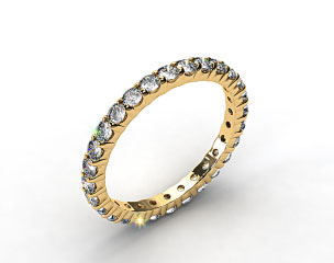 Ladies 0.75ctw* Contoured Common Prong Diamond Eternity Ring