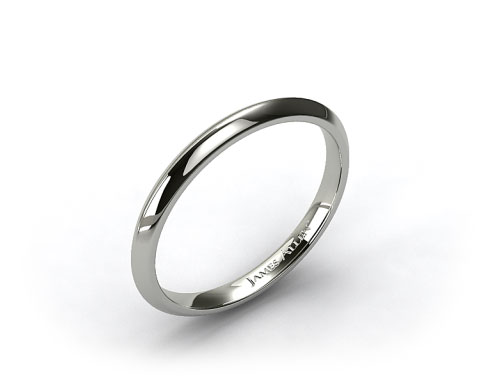 Platinum 2mm Knife Edge Women's Wedding Ring