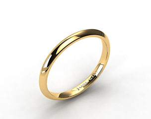 14K Yellow Gold Hand Made Knife Edge Wedding Band