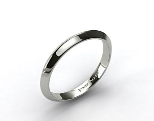 14K White Gold 2.5mm Knife Edge Women's Wedding Ring