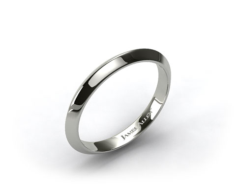 Platinum 2.5mm Knife Edge Women's Wedding Band