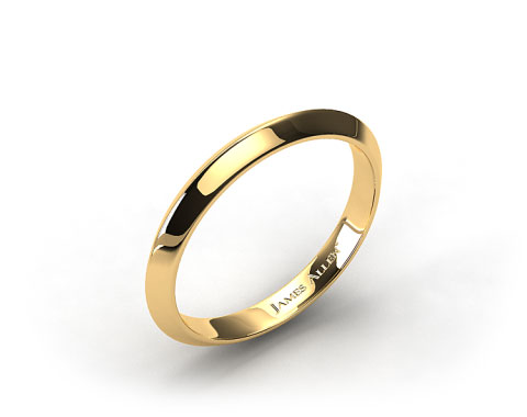 18k Yellow Gold 2.5mm Knife Edge Women's Wedding Band