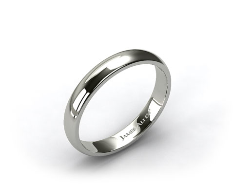 Platinum 3.0mm Comfort Fit  Wedding Ring