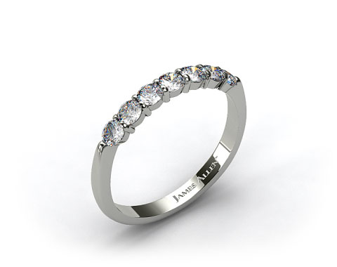 14k White Gold 0.47ct Common Prong Diamond Wedding Ring