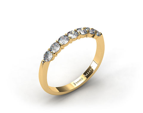 18k Yellow Gold 0.47ct Common Prong Diamond Wedding Ring