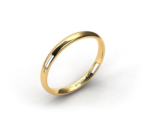14k Yellow Gold 2mm Comfort Fit Wedding Band
