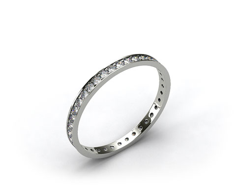 14K White Gold 0.26ct Pave Diamond Eternity Ring