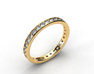 18k Yellow Gold 0.61ct Pave Diamond Eternity Band