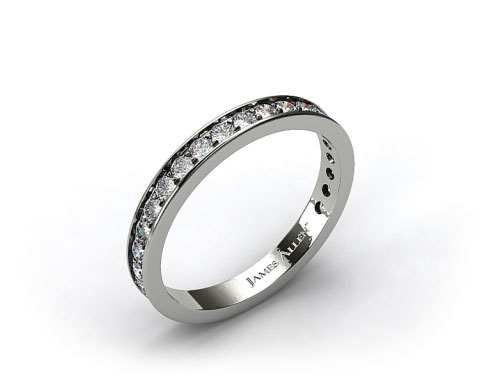 18k White Gold 0.42ct Pave Diamond Wedding Ring