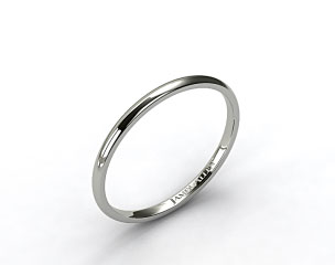 14k White Gold 2mm Comfort Fit Women's Band