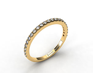 18K Yellow Gold 0.44ct Common Prong Diamond Wedding Ring