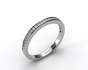 Platinum 0.63ct Channel Set Diamond Wedding Ring