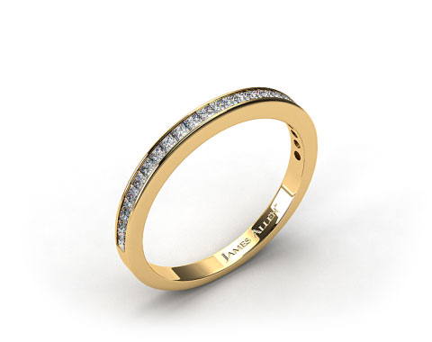 18K Yellow Gold 0.63ct Channel Set Diamond Wedding Ring