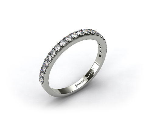 Platinum 0.57ct Common Prong Diamond Wedding Ring