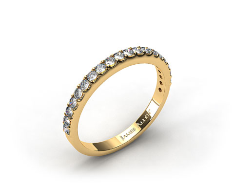 18k Yellow Gold 0.57ct Common Prong Diamond Wedding Ring