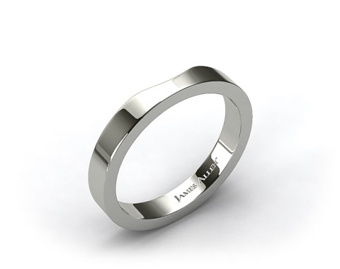 Platinum Women's Cross Prong Wedding Band