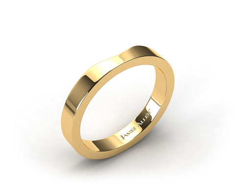 18k Yellow Gold Women's Cross Prong Wedding Band